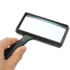 ZhenWei Handheld Reading 5X Square Magnifier - Black + Transparent
