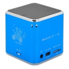 KD-CKYX-LANSE Portable 5W Media Player Speaker w/ TF / FM - Blue + Silver + Black