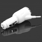 Flexible Car Power Charger for Samsung Galaxy Note3 - White (DC 10-30V)