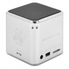 KD-CKYX-LANSE Portable 5W Media Player Speaker w/ TF / FM - Silver + Black