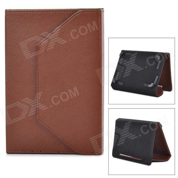 Universal PU Leather Case for 7.85 Tablet PC - Brown universal 61 key bluetooth keyboard w pu leather case for 7 8 tablet pc black