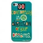 Graffiti Pattern Protective Plastic Back Case for Iphone 4 / 4S - Green