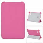 Protective PU Leather Case for Samsung P3100 - Deep Pink