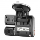 "RICH R528 2.0"" TFT CMOS 1.3 MP + 300KP Dual-Lens Wide Angle Car DVR Camcorder w/ 4-IR Night Vision"