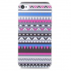 Fashion National Style Plastic Back Case for Iphone 4 / 4S - Grey + Transparent