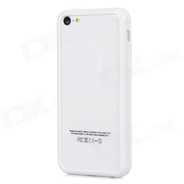 Protective TPU Bumper Frame for Iphone5c - White protective tpu bumper frame for iphone5c blue