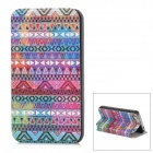 Fashion Tribal Style PU Leather Case for Iphone 4 / 4S - Multicolored