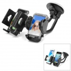 Multi-Functional Car Dual-Holder Mount w/ Suction Cup for Cell Phone / GPS Navigator - Black
