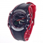 OHSEN AD1309 Stylish Multifunctional Analog + Digital Display Waterproof Wrist Watch - Black + Red