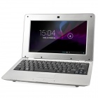 "HL-1086 10"" LCD Android 4.4.2 Netbook w/ LAN / RJ45 / Camera / SD Card Slot - Silver"