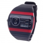 OHSEN AD1305 Fashion Multifunction Analog + Digital Display Waterproof Wrist Watch - Black + Red