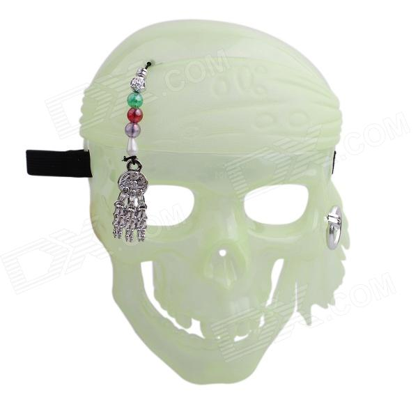 003 Delicate Glow-in-the-Dark Effect Skeleton Mask for Costume Party - Fluorescent Green