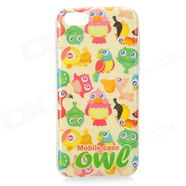 Cute Parrot Pattern Back Case for Iphone 5C - Multicolored