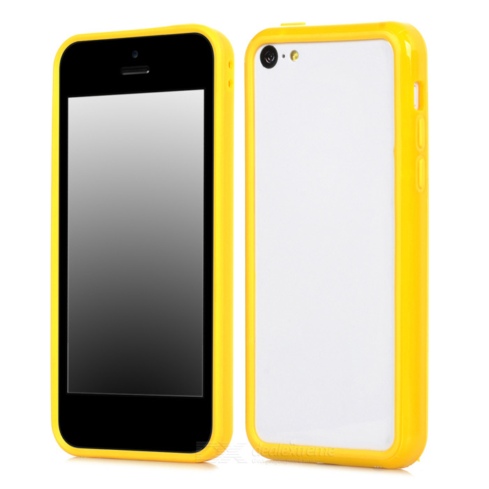 Protective TPU Bumper Frame for Iphone 5C - Yellow protective plastic bumper frame for iphone 6 4 7 yellow