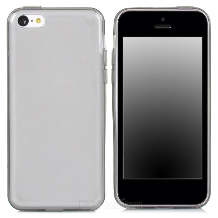 Ultra Thin Soft Silicone Back Case for Iphone 5C - Translucent black
