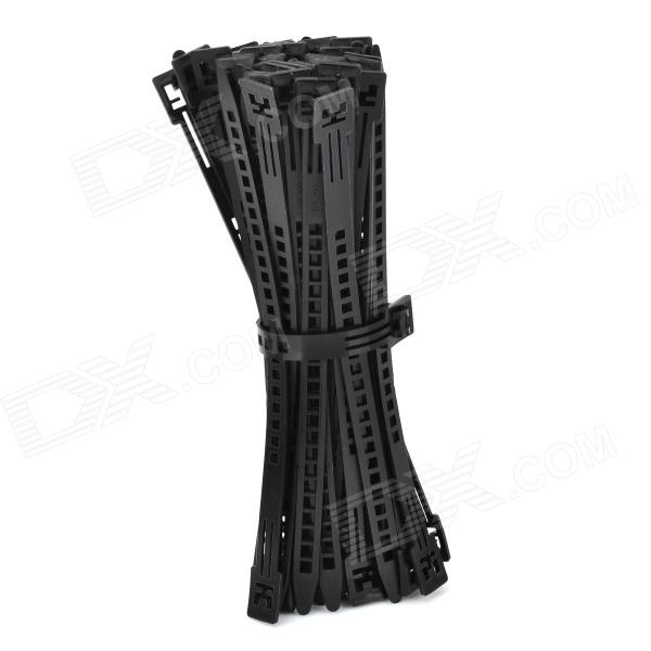 TPE200 PE Plastic Cable Management Ties - Black (50 PCS)