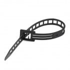 Reusable PE Plastic Cable Management Ties - Black (50 PCS)