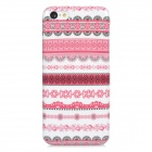 Fashion Tribal Style Plastic Case for Iphone 5C - White + Deep Pink + Black
