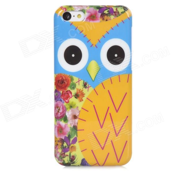 Cute Owl Style Back Case for Iphone 5C - Yellow + Blue