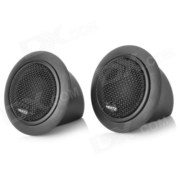120W 12V Automotive Electric Speakers Set w/ Adhesive Tape - Black