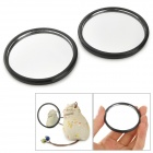 PS-319 Round-Shaped Mini Car Blinding Spot Rearview Mirrors - Black (2 PCS)