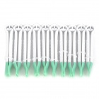Tooth Style Fondant Cakes Decorative Clip Set - White + Light Green (10 PCS)