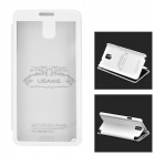 USAMS Note3CD02 Protective PU Leather + PC Case w/ Display Window for Samsung Galaxy Note 3 - White