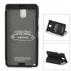 USAMS Note3CD01 Protective PU Leather + PC Case w/ Display Window for Samsung Galaxy Note 3 - Black