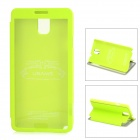 USAMS Note3CD01 Protective PU Leather + PC Case w/ Display Window for Samsung Galaxy Note 3 - Green