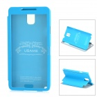 USAMS Note3CD01 Protective PU Leather + PC Case w/ Display Window for Samsung Galaxy Note 3 - Blue