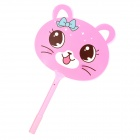 ZX-1088 Cartoon Cat Fan Style Blue Ink Ballpoint Pen - Pink