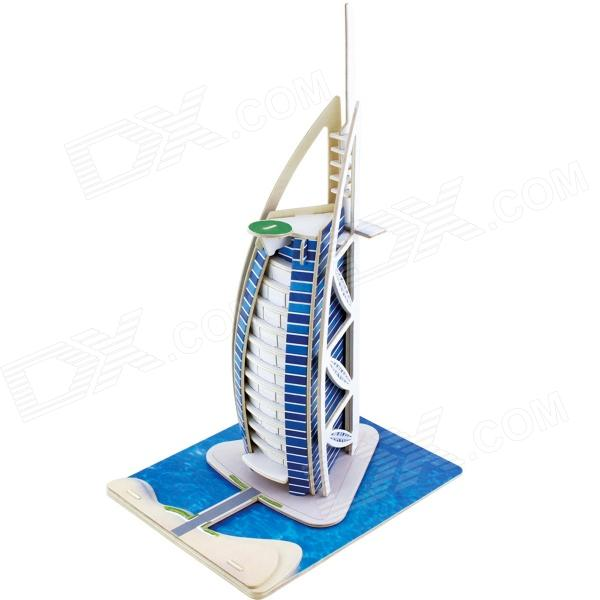 Robotime JPD460 Dubai Sailing Hotel Wooden DIY Assembly Model