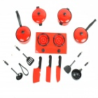 Kitchen Toys Set - Black + Grey + Red + Silver (13 PCS)