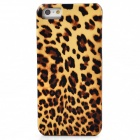 Joyroom Leopard Upholstered Protective Plastic Back Case for Iphone 5 / 5s - Yellow + Brown