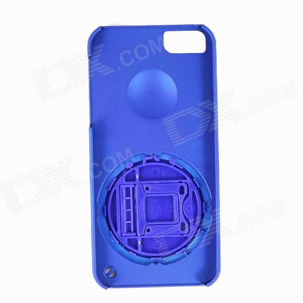 Protective Plastic Back Case Stand Holder for Iphone 5 / 5s - Blue protective plastic back case w card holder for iphone 5 blue