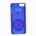 Protective Plastic Back Case Stand Holder for Iphone 5 / 5s - Blue