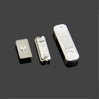 Replacement Volume Button + Mute Button + Switch Button for White Iphone 5S - Silver