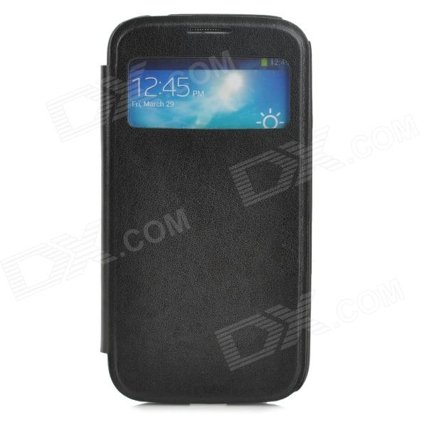 Protective PU Leather + Plastic Case for Samsung Galaxy S4 - Black mr16 3w 3 led 260 lumen 3500k warm white light bulb 12v