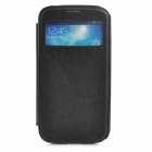 Protective PU Leather + Plastic Case for Samsung Galaxy S4 - Black