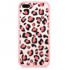 Leopard Pattern Protective Plastic Back Case for Iphone 5 / 5 - Pink