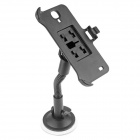 360 Degree Rotation Car Suction Mount Holder + Back Clip Bracket for Iphone 5C - Black
