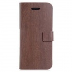 Tree Pattern Protective PU Leather Case Cover Stand for Iphone 5 / 5s - Brown