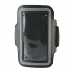 Protective Neoprene Sport Armband for Iphone 5S - Black + Silver Grey