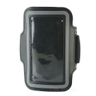 Protective Neoprene Sport Armband for Iphone 5C - Black + Silver Grey