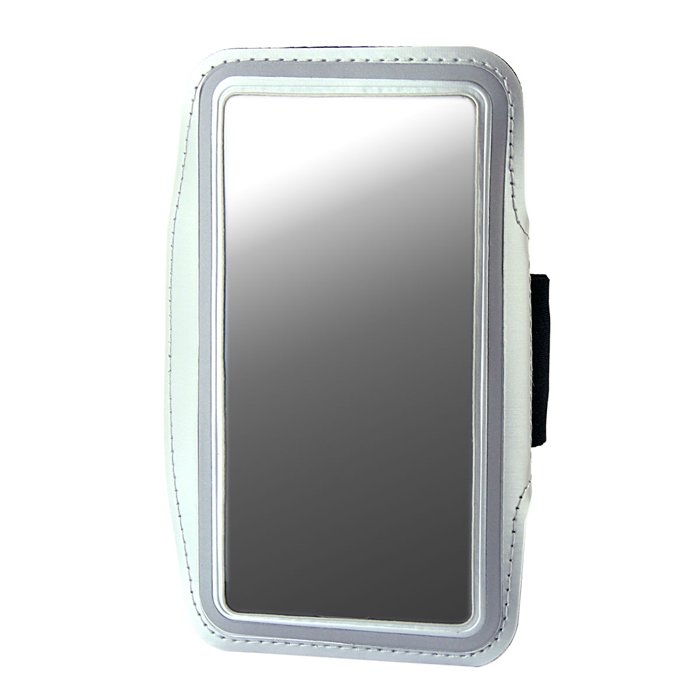 Protective Neoprene Sport Armband for Iphone 5S- Silver + Black + Silver Grey