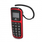 "Jump & Fish 0.8"" LCD Bluetooth v2.1 Headset Dialer w/ Microphone for Iphone 4S - Black + Red"