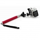 PANNOVO G-62 6-Section Retractable Handheld Pole Monopod for Gopro Hero 4/ 2/3/3+/SJ4000 - Deep Pink