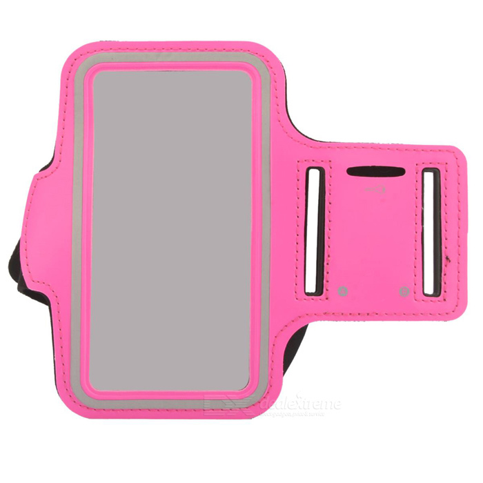 Protective Neoprene Sport Armband for Iphone 5C - Pink + Black + Silver Grey