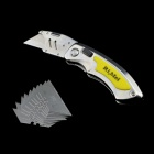 Rimei 5984 Foldable Stainless Steel Utility Knife - Silver + Yellow