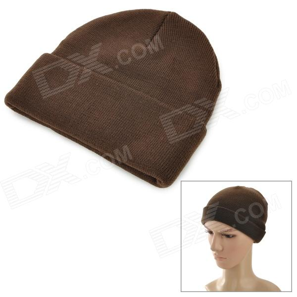 Free Soldier zm39 Warm Outdoor Sports Skiing Woolen Yarn Hat - Brown